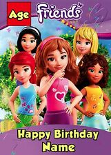 - LEGO FRIENDS - IDEAL FOR DAUGHTER NIECE CHILDREN'S PERSONALISED BIRTHDAY CARD