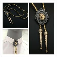 Rodeo Dance Horse Western Cowboy Bolo Bola Ties Gold Leather Belt Bootlace