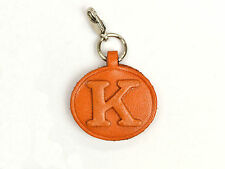 Alphabet/Initial K Handmade Leather Keychain/Charm *VANCA* Made in Japan #26382