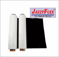 "Flex Magnetic Sign Material, 24"" x 10' x 30 Mil Roll, w/White Vinyl Laminate"