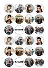 24 x The Wanted Cup Cake Toppers Rice / Wafer Paper