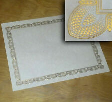 Gold Foil Embossed Certificates Blank 8.5 x 11 65# parchment COVER white (1000)