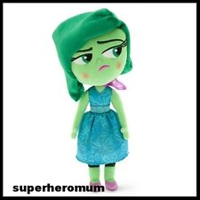 "INSIDE OUT - DISNEY Store SOFT PLUSH TOY DISGUST Green 11"" 28CM NEW NWT"