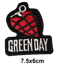 2030 GREEN DAY American Idiot Rock Heavy Metal Band Patch Iron on heart grenade