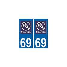 69 Rhône autocollant plaque nouveau logo arrondis
