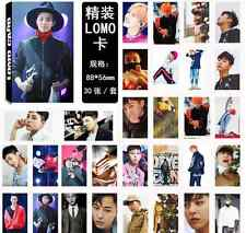 30pcs set Kpop BIGBANG G-Dragon Personal Photo Picture Poster Lomo Cards