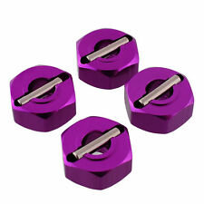 Purple Wheel Hex 4PCS 12mm Part Mount For 1/10 RC Car HSP Redcat Wide Use SJ6
