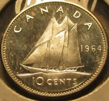 1964 Canadian Proof Dime 10 Cent 80% Silver Coin - Canada
