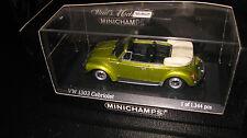 MINICHAMPS 1:43 VOLKSWAGEN VW 1303 BEETLE CABRIOLET SATURN YELLOW  #430055134