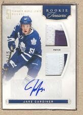 Jake Gardiner 113 2011-12 Rookie Anthology Treasures Dual Patch Auto 13/15