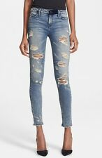$295 NEW RTA Destroyed Skinny Denim Jeans Distressed Destroyed Soil Jean Size 26