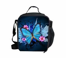 Butterfly Cooler Thermal Waterproof Lunch Bag Box Container Picnic Women Purse