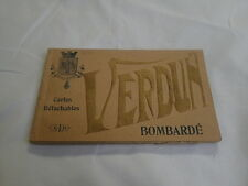 France Verdun Bombarde Postcard Old Vintage Card WWI 1914 -16 Book Photos Ruins