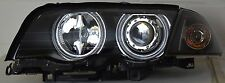 Bmw E46 98-01 Berlina Touring Ccfl Angel Eye Halo Proyector Faros Rhd Negro