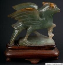 China 20. Jh. Vogel -A Chinese Jadeite Carving of a Bird Scultura Cinese Chinois