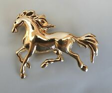 Equestrian Ladies Jewellery Gold Horse Brooch Lapel Pin * New *