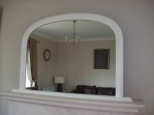 "WHITE ARCHED OVERMANTLE MIRROR - Width 47"" x Height 31"" (120cm x 78cm)"