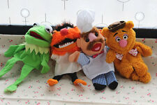 The Muppet Show plush puppet,Kermit the Frog,Fozzie Bear,drummer,Swedish 4PCS