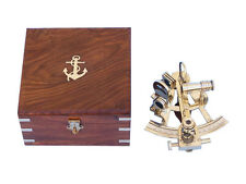 """8"""" Captain's Solid Brass Sextant With Rosewood Box"""