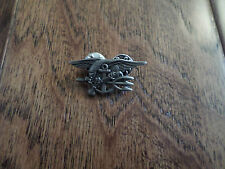 U.S MILITARY NAVY SEALS PIN BADGE ANTIQUE SILVER IN COLOR MINIATURE SIZE