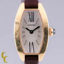 Cartier 18k Rose Gold Mini Tonneau Lanieres Quartz Watch w/ Original Band 2592