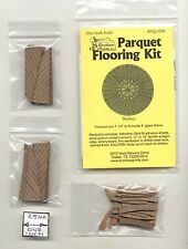 PQ110W Parquet Walnut Wood Flooring Kit  dollhouse 1/12 scale by Brodnax Prints