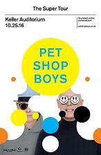 """PET SHOP BOYS """"SUPER TOUR""""2016 PORTLAND CONCERT POSTER-Synthpop,Electronic Music"""