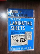 Seal a Card Plastic Clear Laminating Sheets sheets No Tools Needed #64521 6 Pcs.