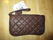 NEW* ROXY Wristlet CLUTCH WALLET Handbag Bag ID VEGAN Brown