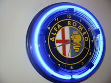 Alfa Romeo Motrs Auto Logo Garage Mechanic Man Cave Advertising Neon Clock Sign