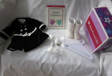 New American Girl Retired Velveteen Coat Set; Coat Boots Pom Pom Book Hanger NIB