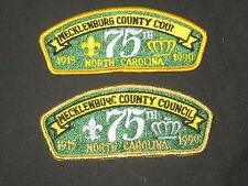 Mecklenburg County Council s5 & s6 Council 75th Anniversary CSPs