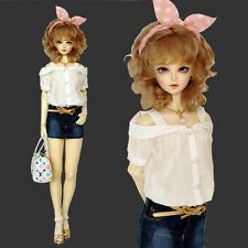 New 1/3 1/4 SD MSD DZ LUTSDELF BJD Clothes All-match White Sexy Sweet Shirt/Top