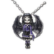 PURPLE PAPER HEARTS Fairy Necklace Jasmine Becket-Griffith Strangeling Pendant