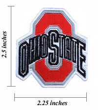 Ohio State Buckeyes Wide 2.25 Inch Embroidered Iron On Patch.