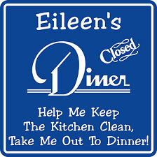 New Personalized Custom Name Kitchen Breakfast Diner Decor Plaque Wall Sign