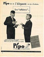 PUBLICITE ADVERTISING  1958   PIPO   vetements de la jeunesse