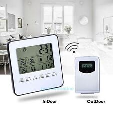 Digital Wireless In/Outdoor Weather Station&Sensor Temperature Humidity Meter