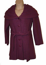 BNWT size 16 PER UNA SPEZIALE 100 PER CENT WOOL COAT MADE in ITALY in PINK