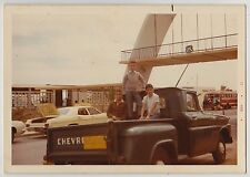 Vintage 70s PHOTO Trio Young Boys In Chevy Chevrolet Truck