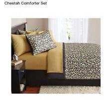 New Cheetah Kid's Twin Size Comforter Set Girl's Bedding Animal Bedspread Sheets