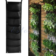7 pocket Hanging Vertical Garden Planter for Walls Outdoor Indoor