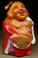 kissako 3807 Japanese Antique Clay Netsuke Bell Vintage Figure