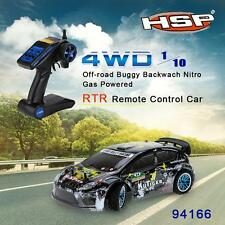 HSP 94177 Nitro Powered Off road Sport Rally Racing 1/10th Scale 4WD RC Car E5N9