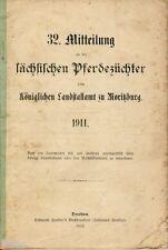 32. Mittheilung an die sächsischen Pferdezüchter Landstallamt Moritzburg 1911