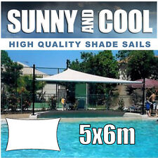HEAVY DUTY SHADE SAIL-5x6M RECTANGLE IN DARK GREY,5Mx6Mx5Mx6M, 5mx6m