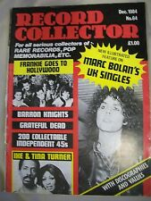 Record Collector Magazine. Issue no. 64. December 1984. Marc Bolan, Ike & Tina T