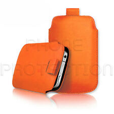LEATHER PULL TAB SKIN CASE COVER POUCH FITS VARIOUS SAMSUNG MOBILES