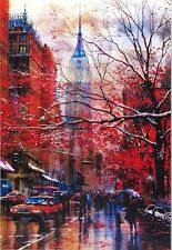 """Art - Empire State Building New York City Watercolor Print 16"""" x 20"""" w/ Mat New"""