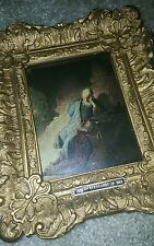 ANTIQUE FAUX PAINTING REMBRANDT DUTCH IMPORT FROM HOLLAND FOR BROADWAY